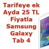 Vodafone'da Samsung Galaxy Tab 4 Ayda 25 TL'ye