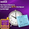 Worldcard'tan Fatura Ödeme Talimatlarına 50 TL Worldpuan