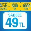 Hattını Turkcell'e Taşıyanlara İnterneti Bol 500 Kampanyası
