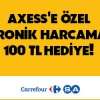 Axess'ten CarrefourSA'ya Özel 100 TL Chip-Para