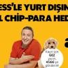 Axess'ten Yurtdışında 30 TL Chip-Para Hediye