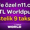 N11.com'da World Karta Özel 111 TL Worldpuan