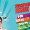 Vodafone Freezone'dan 1 GB Esnek Tarife Aylık 19 TL