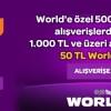Teknosa'da World Kart ile Yapılan Harcamaya 50 TL World Puan