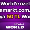 Media Markt'te World'e Özel 50 TL Worldpuan!