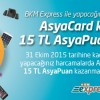 BKM Express Aracılığı ile AsyaCard kullananlara 15 TL AsyaPuan Hediye