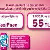 N11.com'dan Maximum Kart'a Özel 55 TL Maxipuan Hediye