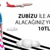 Zubizu ile Atlasglobal'den Alacağınız Yurt İçi Biletlerde İndirim!