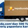 Cardfinans ile Yapılan 500 TL ve Üzeri Hepsiburada.com Alışverişlerinde Kargo Ücretsiz