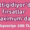 Gittigidiyor.com Alışverişlerinde 100 TL MaxiPuan Kazanın