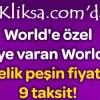 Kliksa.com'a Özel 50 TL Worldpuan ve Peşin Fiyatına 9 Taksit