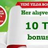 Bonus'tan Yeni Yıla Özel: Her Alışverişe En Az 10 TL Bonus
