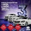Forum Gaziantep Mercedes CLA200 Style 2. Dönem Çekiliş Sonuçları Açıklandı