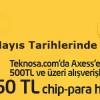 Teknosa'dan Axess Karta Özel 50 TL Chip Para Hediye