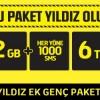 Turkcell'de Yıldız Ek Genç Paketi Sadece 6 TL