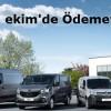 Renault Hafif Ticari Araçları Şimdi Alın, Ekim'de Ödemeye Başlayın