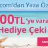Teknosa'da Yaza Özel Fırsat: 300 TL'ye Kadar Hediye Çeki