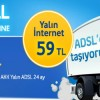 Turkcell Superonline'da Yalın ADSL 59 TL