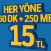 Turkcell'den Olay 250 Paketi Kampanyası