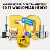 Vakıfbank'ta Alışverişlerinizde 50 TL Worldpuan hediye!