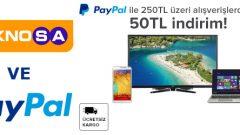 Teknosa.com'dan Paypal ile Yapacağınız Alışverişlerde 50 TL İndirim