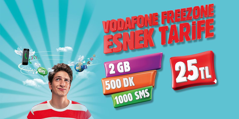 Vodafone Freezone Esnek Tarife