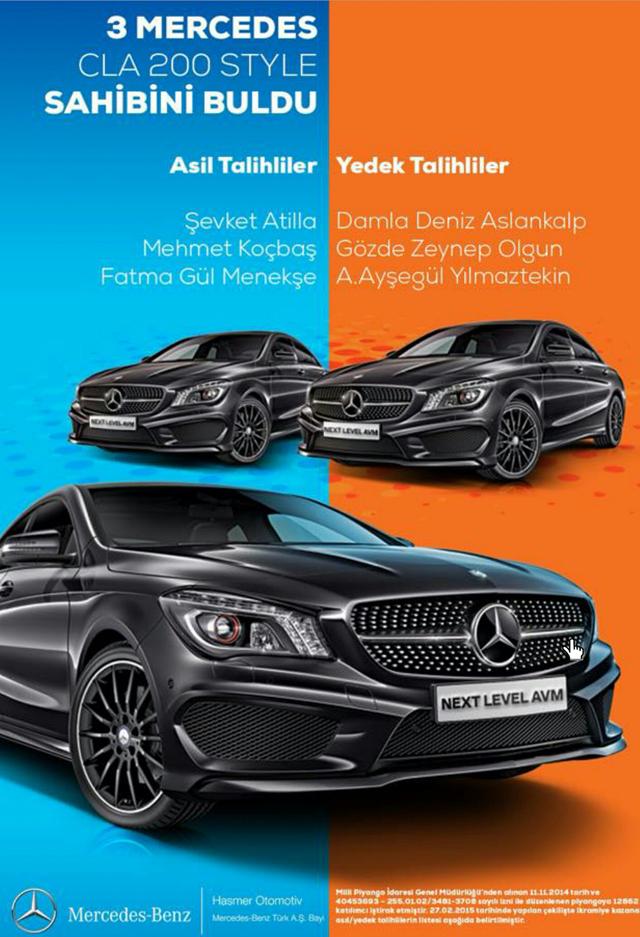 Next Level Mercedes Çekilişi Sonuçları