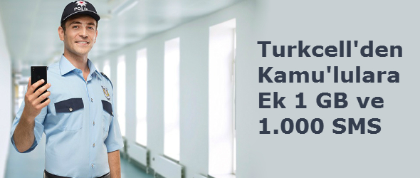 Turkcell Kamu Ek 1 GB ve 1000 SMS Kampanyası