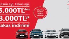 Toyota'dan Kasım Ayına Özel Takas Kampanyası