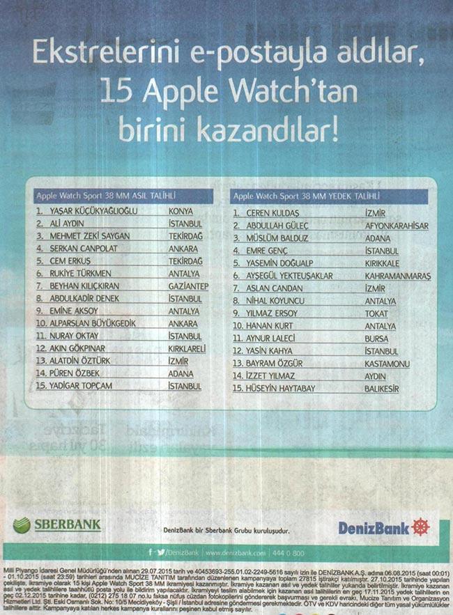 denizbank apple watch
