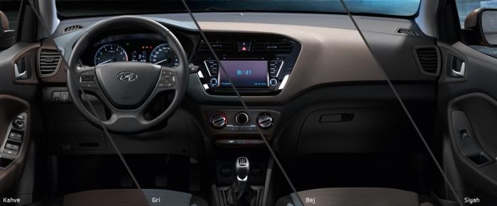Hyundai i20 iç tasarımı