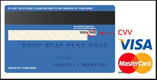 kredi kartı arka yüzü