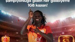 Turkcell Galatasaray Destek 1 GB Hediye İnternet Kampanyası